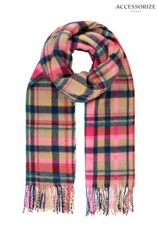 Accessorize Cream Borough Check Blanket