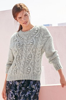Cable Knit Bobble Sweater