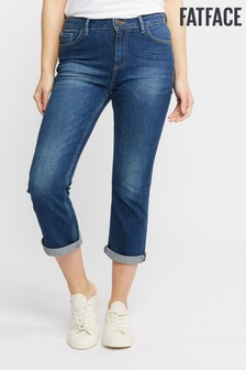 FatFace Clean Blue Denim Cropped Jean