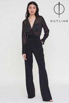 Outline Black Holland Jumpsuit