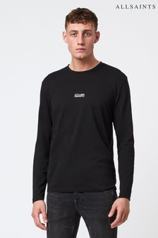 AllSaints Black State Logo Sweater