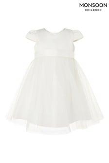 Monsoon Natural Baby Tulle Bridesmaid Dress