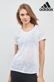 adidas White Aeroknit Tee