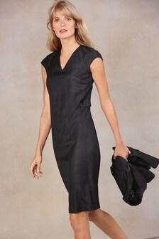 Shadow Check Dress