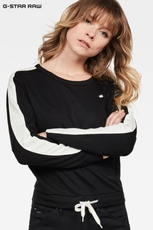 G-Star Black Nostelle Cropped Long Sleeve Sweatshirt