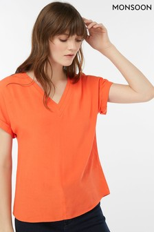 Monsoon Ladies Orange Shona Blouse
