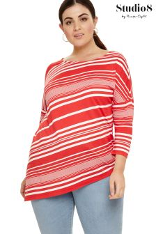 Studio 8 Pink Tessa Stripe Top