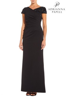 Adrianna Papell Black Plus Long Dress