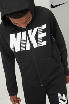 Nike Black Dry-FIT Zip Through Hoody