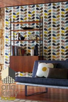 Orla Kiely Sea Green Multi Stem Wallpaper