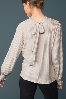 Sparkle Rib Long Sleeve Top