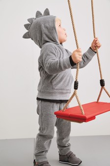 Velour Dino Spike Hoody And Joggers Set (3mths-7yrs)