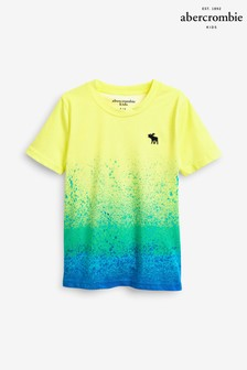 Abercrombie & Fitch Yellow Splatter Tee