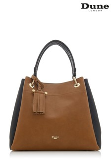 Dune Accessories Tan Large Colourblock Slouch Bag