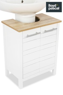 Lloyd Pascal White And Oak Effect Under-Sink Storage