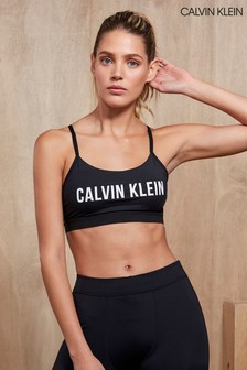 Calvin Klein Performance Black Adjustable Straps Sports Bra