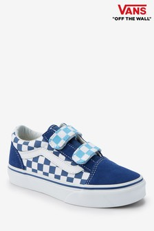 d869b36ff7 Vans Infant Blue Checker Old Skool Vercro Trainer
