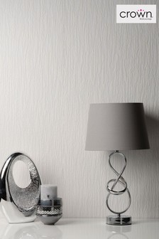 White Textured Wallpaper by Crown