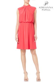 Adrianna Papell Petite Matte Jersey Fit And Flare Dress