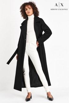 Armani Exchange Black Tailored Coat