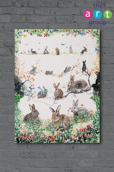 A Rabbit For All Seasons by Kathryn McGovern Canvas