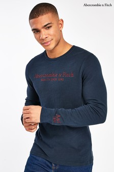 Abercrombie & Fitch Navy Graphic Long Sleeve T-Shirt