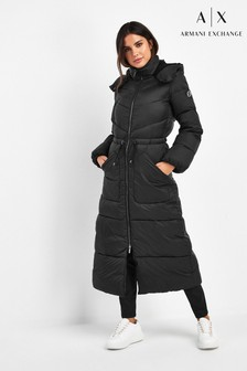 Armani Exchange Black Padded Coat