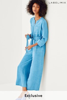 Mix/LF Markey Zip Front Cropped Jumpsuit