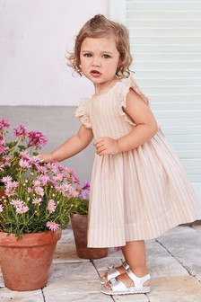 Frill Sleeve Dress (3mths-7yrs)