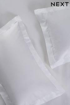 Set of 2 White Easy Care Polycotton Pillowcases