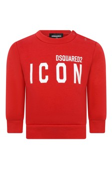 Baby Red Cotton Icon Sweater