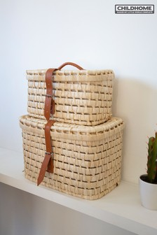 Set of 2 Childhome Corn Husk Storage Baskets