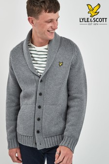 Lyle & Scott Grey Shawl Neck Cardigan