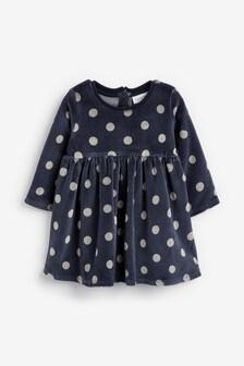 Velour Dress (0mths-2yrs)