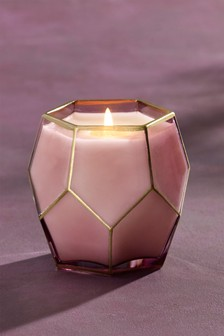 Plum Amethyst Faceted Candle