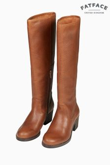 FatFace Brown Whitby Knee High Boot