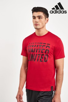 adidas Red Manchester United Football Club DNA Tee