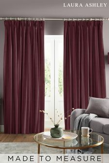 Laura Ashley Swanson Dark Cranberry Made to Measure Curtains