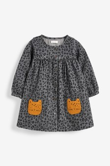 Leopard Pocket Button Through Dress (3mths-7yrs)