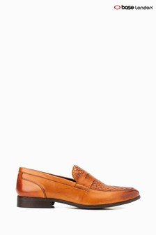 Base London® Tan Alto Weave Slip-On Shoes