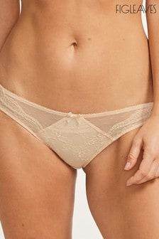 Figleaves Nude Juliette Lace Bikini Briefs