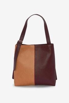 Split Panel Shoulder Bag