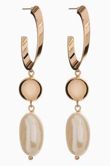 Baroque Pearl Effect Drop Earrings