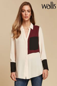 Wallis Berry Colourblock Shirt