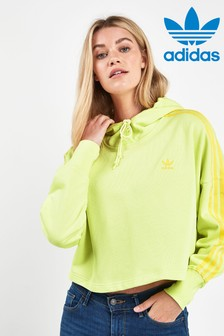 adidas Originals 3 Stripe Cropped Hoody