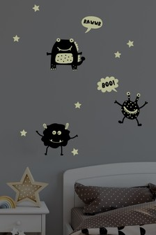 Glow In The Dark Monster Wall Stickers