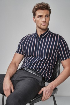 Vertical Stripe Slim Fit Shirt