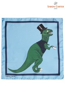 Simon Carter Dinosaur Print Pocket Square