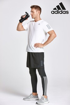 adidas Run Black 3 Stripe Legging