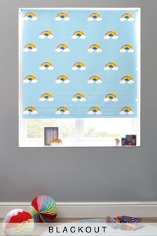 Cordless Kids Rainbow Print Blackout Roller Blind